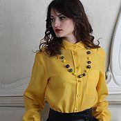 Блузки ручной работы. Ярмарка Мастеров - ручная работа Рубашка женская классическая. Handmade.