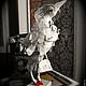 Статуэтки ручной работы. Ярмарка Мастеров - ручная работа. Купить белая ворона. Handmade. Белый, клюв, текстиль