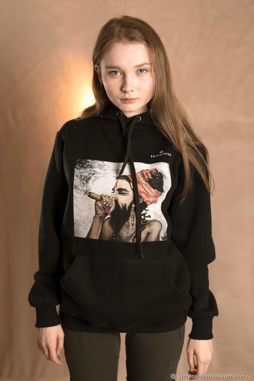 Hoodies: HINDI author's UNISEX print sweatshirt, Sweatshirts, Moscow,  Фото №1