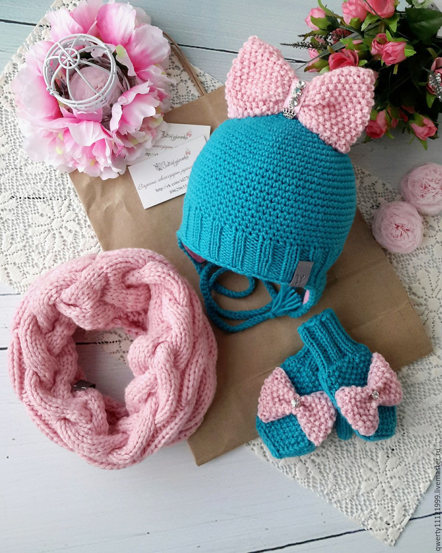 Вязание шапочки весна на девочек 36