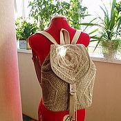 Рюкзаки ручной работы. Ярмарка Мастеров - ручная работа Рюкзак льняной женский Нежность. Handmade.