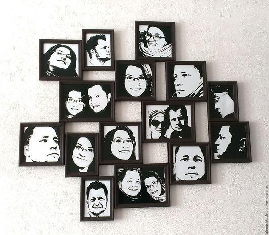 """Фотокартины ручной работы. Ярмарка Мастеров - ручная работа. Купить Фотопанно """"На свадьбу"""". Handmade. Чёрно-белый, черный"""