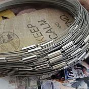 Материалы для творчества handmade. Livemaster - original item Choker with lock base for steel necklace (1097). Handmade.