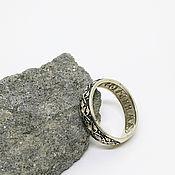 """Религиозное кольцо ручной работы. Ярмарка Мастеров - ручная работа Серебряное кольцо """"Спаси и Сохрани"""" (серебро 925 пробы). Handmade."""