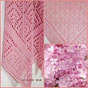 Аксессуары ручной работы. Ярмарка Мастеров - ручная работа Шаль Арабески - розовая. Handmade.