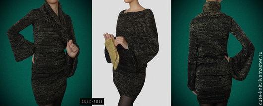 Чтобы лучше рассмотреть модель, нажмите на фото. Ната Онипченко CUTE-KNIT Ярмарка Мастеров Купить черное платье вязаное