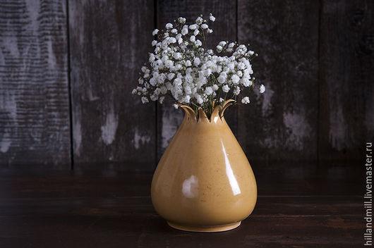"""Вазы ручной работы. Ярмарка Мастеров - ручная работа. Купить Ваза """"Тыква"""". Handmade. Ваза, ваза декоративная, ваза керамическая"""