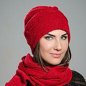 Аксессуары handmade. Livemaster - original item Hat with pintucks( mohair). Handmade.