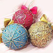 Подарки к праздникам ручной работы. Ярмарка Мастеров - ручная работа новогодний шар с вашим фото 8 см.. Handmade.