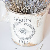Для дома и интерьера handmade. Livemaster - original item Pot planter made of concrete in the Provence style Vintage Shabby Country. Handmade.