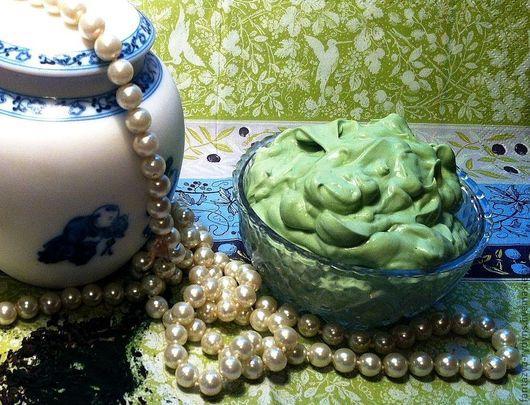 Маски для лица ручной работы. Ярмарка Мастеров - ручная работа. Купить Детокс маска для лица. Спирулина и зеленый чай.. Handmade.