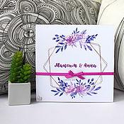 Подарки ручной работы. Ярмарка Мастеров - ручная работа Коробочка для денег на свадьбу в сиренево-фиолетовых тонах. Handmade.