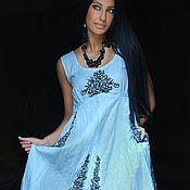 Одежда handmade. Livemaster - original item Embroidered linen sundress