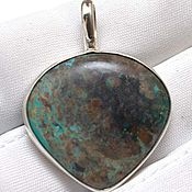 handmade. Livemaster - original item Silver 925 pendant with chrysocolla. Handmade.