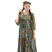 """Одежда ручной работы. Ярмарка Мастеров - ручная работа Лоскутное платье """"Травница"""". Handmade."""