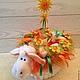 бэби-букет Солнышко букет из детской одежды букет из детских вещей оригинальный подарок новорожденному подарок на рождение малыша крестины подарок на выписку для малышки необычный подарок в Овечке сим