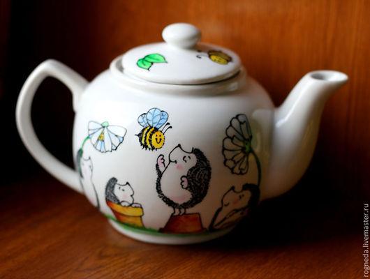 Возможно изготовление на заказ чайника более крупного (750 мл, как на первых фото), стоимость 1370 рублей.