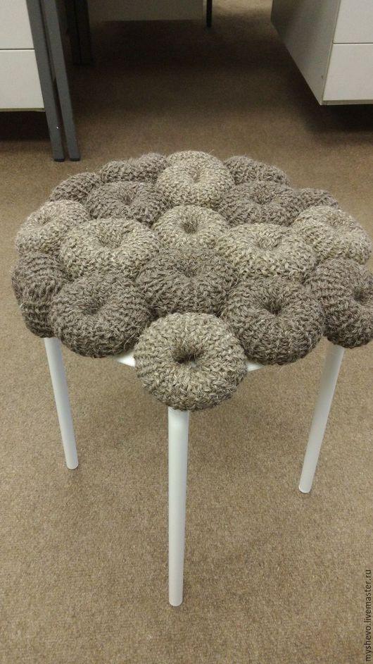 Мебель ручной работы. Ярмарка Мастеров - ручная работа. Купить Табурет. Handmade. Комбинированный, вязание, для интерьера, пластик