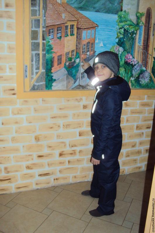 Одежда для мальчиков, ручной работы. Ярмарка Мастеров - ручная работа. Купить Комбинезон/ Комбинезон детский. Handmade. Тёмно-синий, шерстипон
