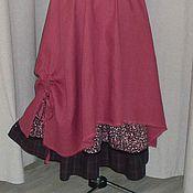 Одежда ручной работы. Ярмарка Мастеров - ручная работа №155.1 Льняная юбка бохо. Handmade.