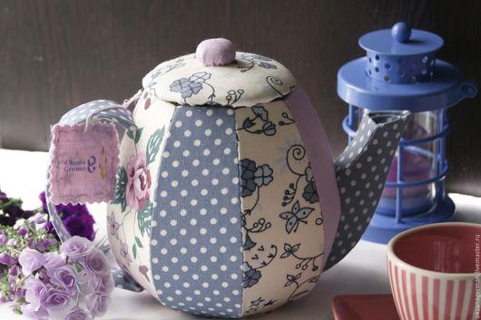 Кухня ручной работы. Ярмарка Мастеров - ручная работа. Купить Текстильный чайник-шкатулка. Handmade. Текстильный чайник, кухонный декор