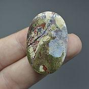 Материалы для творчества handmade. Livemaster - original item moss agate. Cabochon 37h24h5. Handmade.