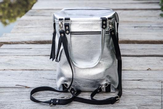 Женские сумки ручной работы. Ярмарка Мастеров - ручная работа. Купить Сумка - рюкзак из натуральной кожи . Кожаный рюкззак .. Handmade.