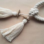 Материалы для творчества handmade. Livemaster - original item Tiebacks with tassels. Handmade.