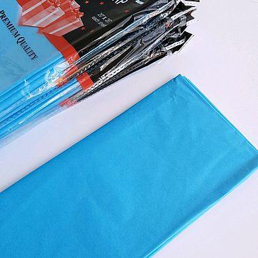 Материалы для творчества ручной работы. Ярмарка Мастеров - ручная работа Бумага тишью, упаковка 10 листов, голубая. Handmade.