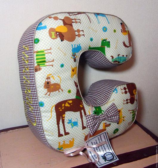 Текстиль, ковры ручной работы. Ярмарка Мастеров - ручная работа. Купить буква подушка ( буква мягкая из ткани ). Handmade.