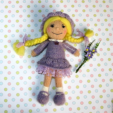 Materials for creativity handmade. Livemaster - original item MK knitting DOLL. spokes. Handmade.