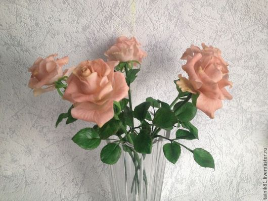 Цветы ручной работы. Ярмарка Мастеров - ручная работа. Купить Роза чайная. Handmade. Бежевый, подарок женщине, холодный фарфор