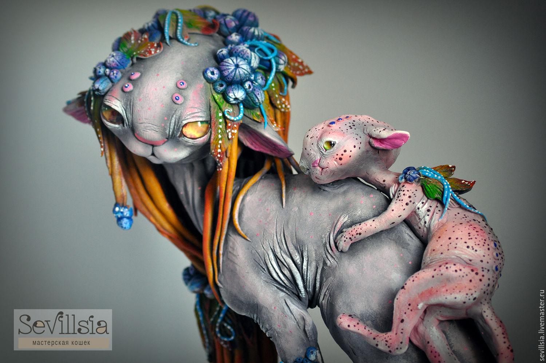 MII-sue and little Otope. Cat race, Nursery handmade, Rostov-on-Don, Фото №1