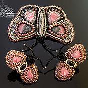 Украшения handmade. Livemaster - original item butterfly. The brooch and cufflinks. Handmade.