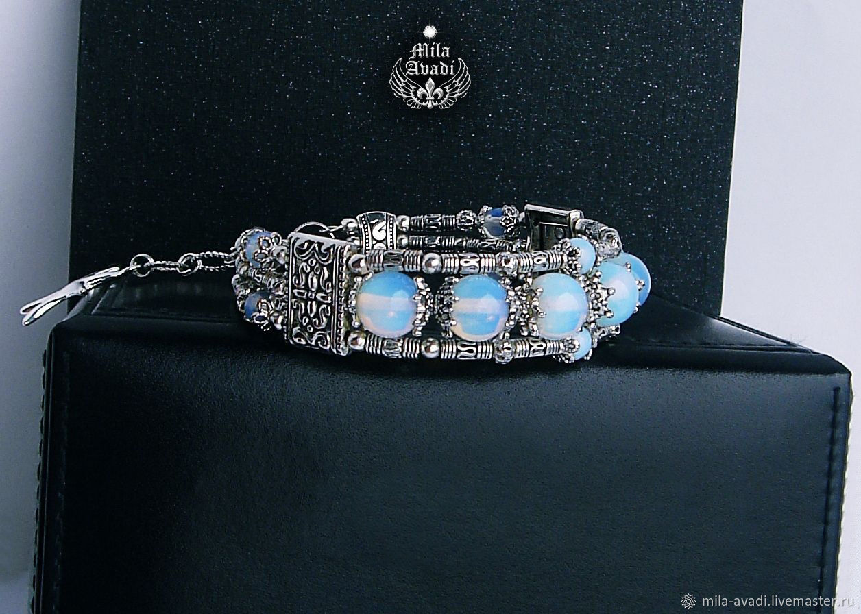 b5eb04265d Bracelets handmade. Livemaster - handmade. Buy handmade bracelet Opalite  Shambhala Tibetan.Handmade ...