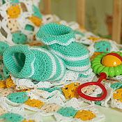 Работы для детей, handmade. Livemaster - original item Baby booties. Handmade.