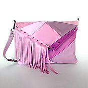 Сумки и аксессуары handmade. Livemaster - original item Leather lilac bag