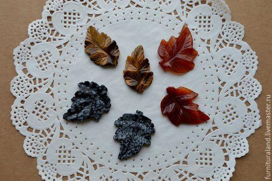 """Для украшений ручной работы. Ярмарка Мастеров - ручная работа. Купить Резные подвески из камней """"Листья"""", 3 вида.. Handmade."""