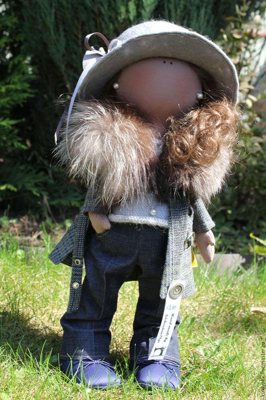 Коллекционные куклы ручной работы. Ярмарка Мастеров - ручная работа. Купить Мадмуазель. Handmade. Серый, подарок на любой случай