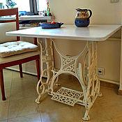 Для дома и интерьера ручной работы. Ярмарка Мастеров - ручная работа Кухонный столик на станине от швейной машины Durkopp. Handmade.