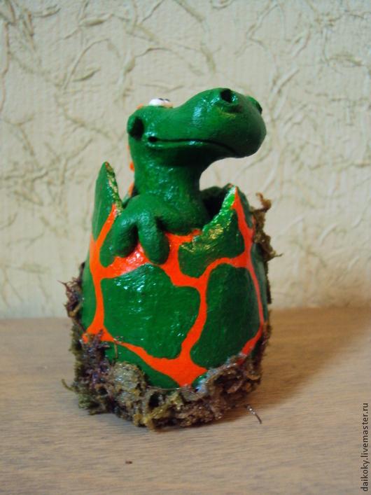 Сказочные персонажи ручной работы. Ярмарка Мастеров - ручная работа. Купить Дракончик в яйце - новорожденный. Handmade. Разноцветный, талисман