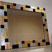 Для дома и интерьера ручной работы. Ярмарка Мастеров - ручная работа Зеркало настенное в раме хай-тек. Handmade.