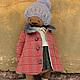 Мишки Тедди ручной работы. Светланка. Вера Кондратьева (hmdolls). Интернет-магазин Ярмарка Мастеров. Красный, мишка девочка
