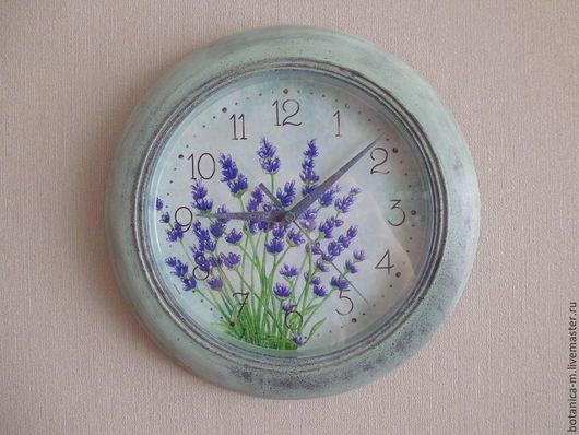 """Часы для дома ручной работы. Ярмарка Мастеров - ручная работа. Купить """"Синяя лаванда"""" Часы настенные. Handmade. Часы настенные"""