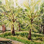Картины и панно handmade. Livemaster - original item Picture Crimea Landscape Sunny Summer Day Palm Trees. Handmade.