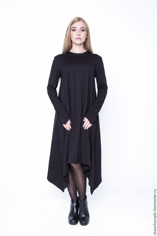 Платья ручной работы. Ярмарка Мастеров - ручная работа. Купить Платье Черное  Corner. Handmade. Черный, Коктейльное платье