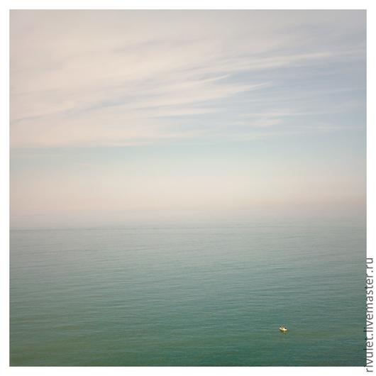 Фотокартина для интерьера «...просто лётная погода» – Этрета, Север Франции. Ануфриева Елена -- Спокойный морской пейзаж. Прекрасное место, где море встречается с небом : )