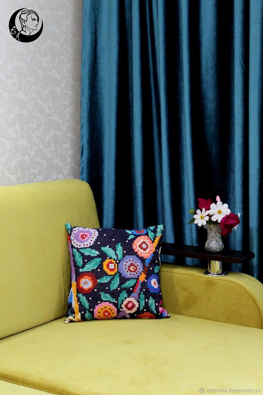 Вышитая подушка, Подушки, Калуга,  Фото №1