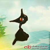 Куклы и игрушки ручной работы. Ярмарка Мастеров - ручная работа Черный кот. Handmade.