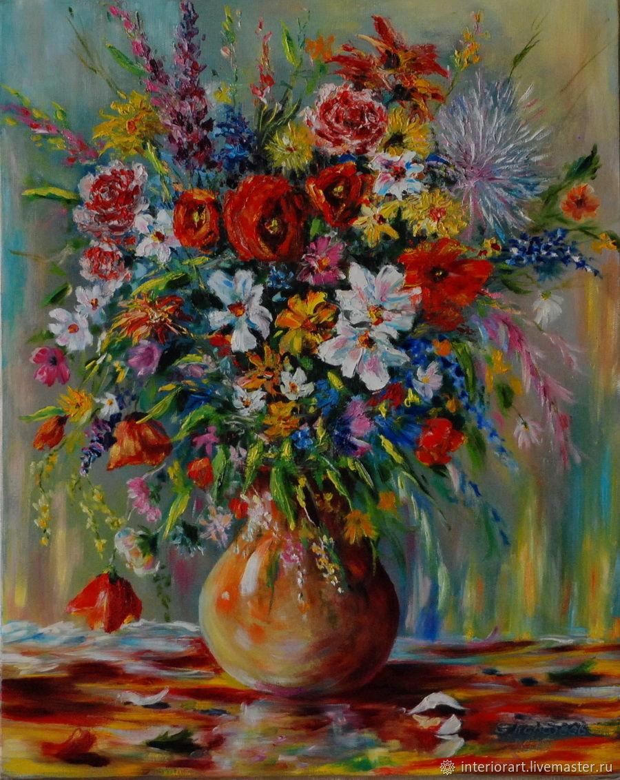 Картина маслом Букет цветов, Картины, Великий Новгород,  Фото №1